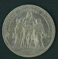 MONETA FRANCESE - ANNO 1873 - BB/SPL - 5 FRANCS - REPUBLIQUE FRANCAISE - LIBERTè, EGALITè, FRATERNITè - ARGENTO - SILVER - J. 5 Francs
