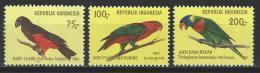 Indonesien 1980 Mi 988-90 ** MNH - Parrots