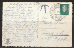 1929 Germany Seapost (23.7.29) Ppc T Due - Germany