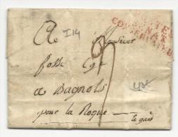 1808 - LETTRE De La POSTE Du SENAT Pour BAGNOLS (GARD) - IND 14 - Marcophilie (Lettres)