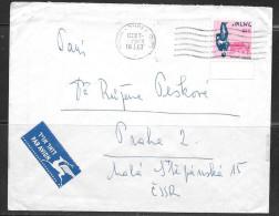 1967 Israel (18.1.67) To Czechoslovakia - Israel