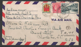 1949 France 40f Vallee De La Meuse To SC USA - France