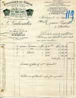 33.BORDEAUX.EPONGES EN GROS.PEAUX DE CHAMOIS.G.GALANDIS 35 RUE DE BUHAN. - France