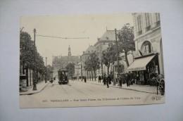 CPA 78 VERSAILLES. Rue Saint Pierre. Tribunaux. Carte Animée. Tramway... - Versailles