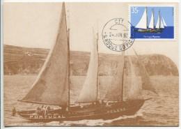 "Sailing Ship ""Chalupa Helena"" - Transports Of The Azores (Maximum Card) - Bateaux"