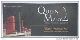 Eq2.g- QUEEN MARY 2 Liner Cunard Cruises Paquebot Chantiers Atlantique St Nazaire France Marine Transatlantique - Non Classés