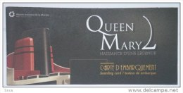 Eq2.g- QUEEN MARY 2 Liner Cunard Cruises Paquebot Chantiers Atlantique St Nazaire France Marine Transatlantique - Maritime & Navigational