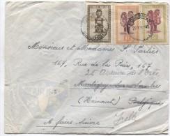 TP Masques S/L.Avion C.Mongbwalu 22/12/49 Via Nizi V.Montigny-Sur-Sambre Et Réexpédiée V.Ixelles PR2477 - Poste Aérienne: Lettres