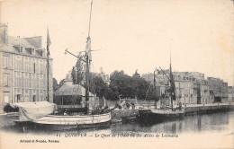 QUIMPER - Le Quai De L'Odet Vu Des Allées De Locmaria - Quimper
