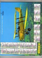 Almanach Du Facteur 2000 - Oberthur - La Poste - 47 Lot Et Garonne - Aviation : Biplan Moderne - Chemin De Fer : Vapeur - Calendriers