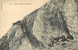 CHASSEURS ALPINS EN MONTAGNE - Manovre