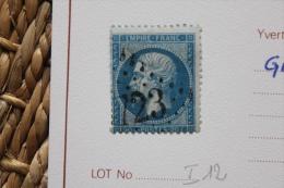 Timbres N° 22 Oblitération GC 723 Bagnac La Capelle-Banhac Très Beau à Voir - 1849-1876: Classic Period