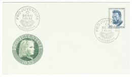 Suisse//Schweiz//Svizerra // Switzerland//Pro-Juventute // Lettre 1er Jour 1953 Seulement Le 40centimes - Pro Juventute