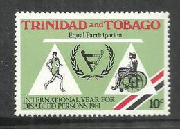 TRINIDAD & TOBAGO 1981 INTERNATIONAL YEAR OF DISABLE PERSONS MNH - Trinité & Tobago (1962-...)