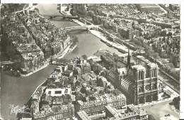 Parigi (Paris, Francia) Vue Aerienne Notre Dame De Paris Et L´Ile Saint Louis, Cattedrale Di Notre Dame, Isola San Luigi - Notre Dame De Paris