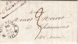 1838 VOSGES CURSIVE 82/CHÂTENOIS. T12 NEUFCHATEAU POUR CHAUMONT. TAXE PLUME 3 / 7353 - 1801-1848: Vorläufer XIX