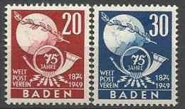 ALLEMAGNE BADE N� 56 / 57 NEUF*   CHARNIERE / MH
