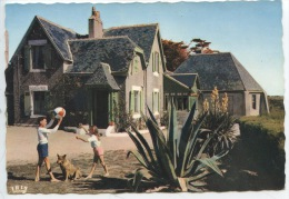 Belle Ile En Mer : Le Manoir De Goulphar Hotel Restaurant (tél à Baugor) N°1865 Cap Neuve Dentellée Animée Enfants Chien - Belle Ile En Mer