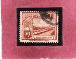 PERU´ 1949 1951 WORKER´S HOUSE CASA DEL LAVORATORE CENT. 50 USATO USED OBLITERE´ - Peru