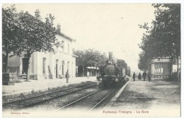 77 - FONTENAY-TRESIGNY - La Gare - CPA - Fontenay Tresigny