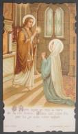 IMAGE PIEUSE BONAMY Pl 324 (chromo Vers 1900) LA COMMUNION DE LA SAINTE VIERGE / SANTINO - Images Religieuses