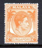 Singapore 1948-52 - KGVI - P.17½ X 18 - 2c Orange HM (SG 17) - Singapur (...-1959)