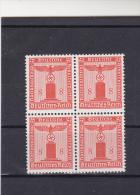 Deutsches Reich Dienstmarken   Selten  Als 4er Block 160 Y Ohne WZ Waag. Gummierung  (  N 2715  ) - Service