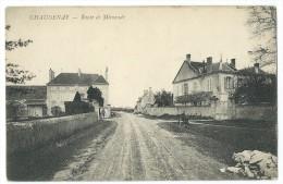 71 - CHAUDENAY - Route De Mimande - CPA - France