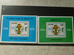 Coupe Du Monde 1978 Bloc Feuillet 26/27 - 1971-79: Ungebraucht