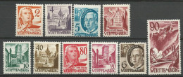 ALLEMAGNE WURTEMBERG N�  28 / 37   NEUF* AVEC OU TRACE DE CHARNIERE / MH