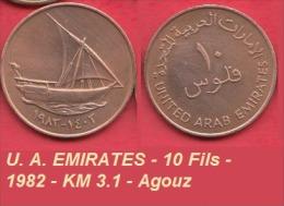 U. A. EMIRATES - 10 Fils - 1982 - KM 3.1 - Agouz - Emirats Arabes Unis