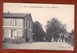 1 Cpa Environs Du CAMP DE MAILLY - Une Rue De POIVRES - Mailly-le-Camp