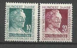 ALLEMAGNE WURTEMBERG N�  44 / 45   NEUF*  TRACE DE CHARNIERE / MH