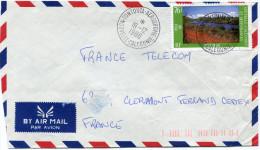 NOUVELLE-CALEDONIE LETTRE PAR AVION DEPART TONTOUTA-AERODROME 19-12-1988 POUR LA FRANCE - Nieuw-Caledonië