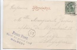TP Germania S/CP Malmedy - Rathaus C.bleu Franz Forst Hôtel Du Grand Cerf V.Liège PR2482 - Autres