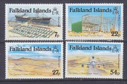 Falkland Islands 1985 Opening Mount Pleasant Airport 4v ** Mnh (FI1006AB) - Falklandeilanden