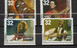 N130- USA  1998 - SC#: 3212-15 - MNH -FOLK MUSICIANS - FACIAL VALUE  € 0.96 - Nuovi