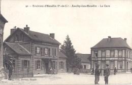 62 - Environs D´HESDIN - Auchy-les-Hesdin - La Gare - N° 90 - Circulé - Hesdin