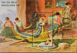 Brasilien Brasil 1988 Block 74 Gemälde Das Vaterland Von Pedro Bruno - Unused Stamps