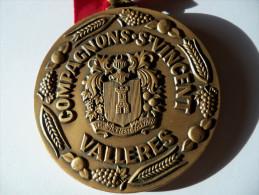 Médaille Bronze Balme Compagnons De Saint Vincent VALLERES - Francia