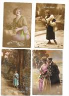 """CARTE POSTALE , Lot De 4 Cartes """"meilleurs Vœux"""" Des Années 1919-1920 - New Year"""