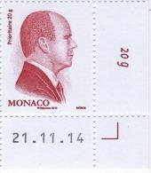 ** MONACO 2015 - N° 2952 - ROUGE DE S.A.S. LE PRINCE ALBERT II - NEUF ** / G4 - Neufs