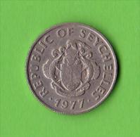 SEYCHELLES / 25 CENTS / 1977   - BEL ETAT - Seychelles