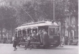 Nº4038 POSTAL DE UN TRANVIA DE BARCELONA EN PLAZA DE CATALUÑA DEL AÑO 1949  (TREN-TRAIN-ZUG) AMICS DEL FERROCARRIL - Tranvía