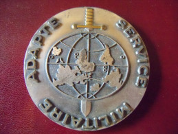 Militaria: Médaille Militaire Bronze Service Militaire Adapté. - France