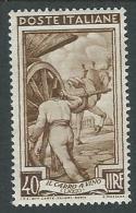 1950 ITALIA LAVORO 40 LIRE RUOTA MH * - B11 - 1946-60: Nieuw/plakker