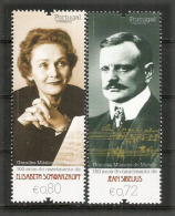 PORTUGAL. Grands Musiciens Elisabeth Schwarzkopf & Jean Sibelius .   2 Timbres Neufs ** - Musik