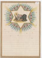 """03355 """"LETTERINA DI NATALE - LETTRE DE NOEL - CHRISTMAS LETTER """" ANNI '50 DEL XX SECOLO, DECORATA IN ORO. ORIGINALE - Decorative Items"""