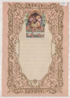 """03356 """"LETTERA DI NATALE - LETTRE DE NOEL - CHRISTMAS LETTER """"  DECORATA IN ORO E RILIEVO, ANNI ´30 XX SECOLO. ORIGINALE - Decorative Items"""