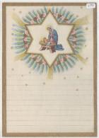 """03358 """"LETTERINA DI NATALE - LETTRE DE NOEL - CHRISTMAS LETTER""""  DECORATA IN ORO. META' DEL  XX SECOLO.   ORIGINALE - Decorative Items"""